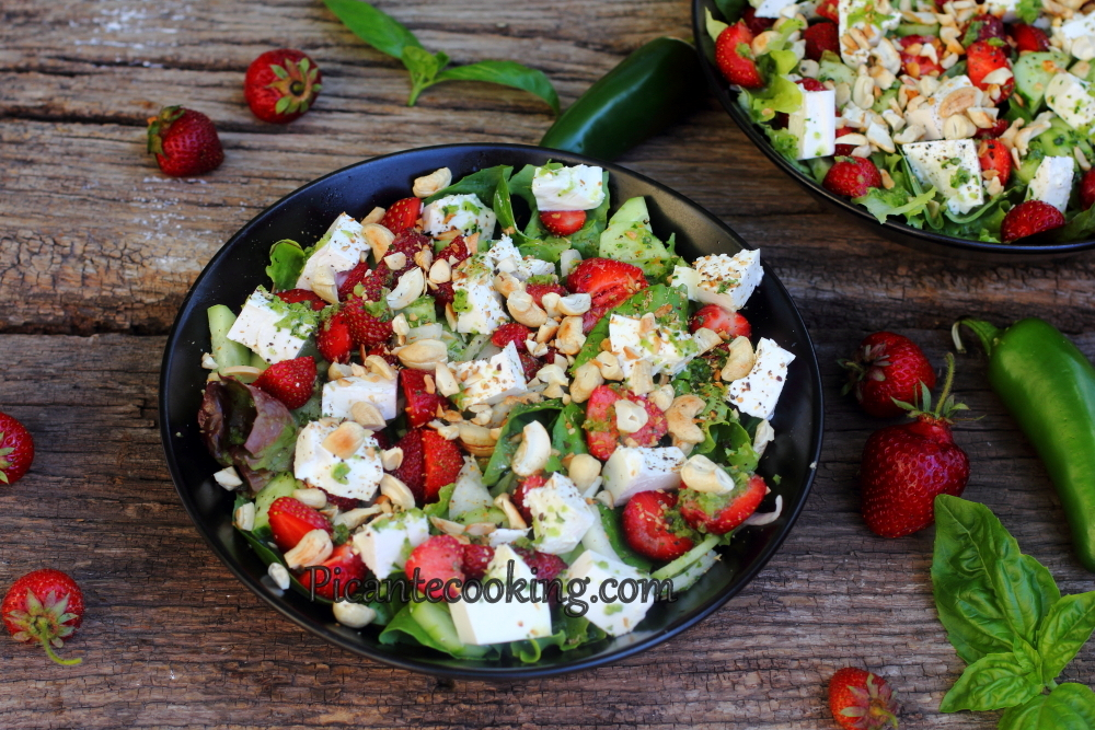 Spicy strawberry salad7.JPG