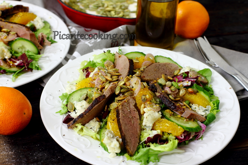 Duck salad with oranges8.JPG