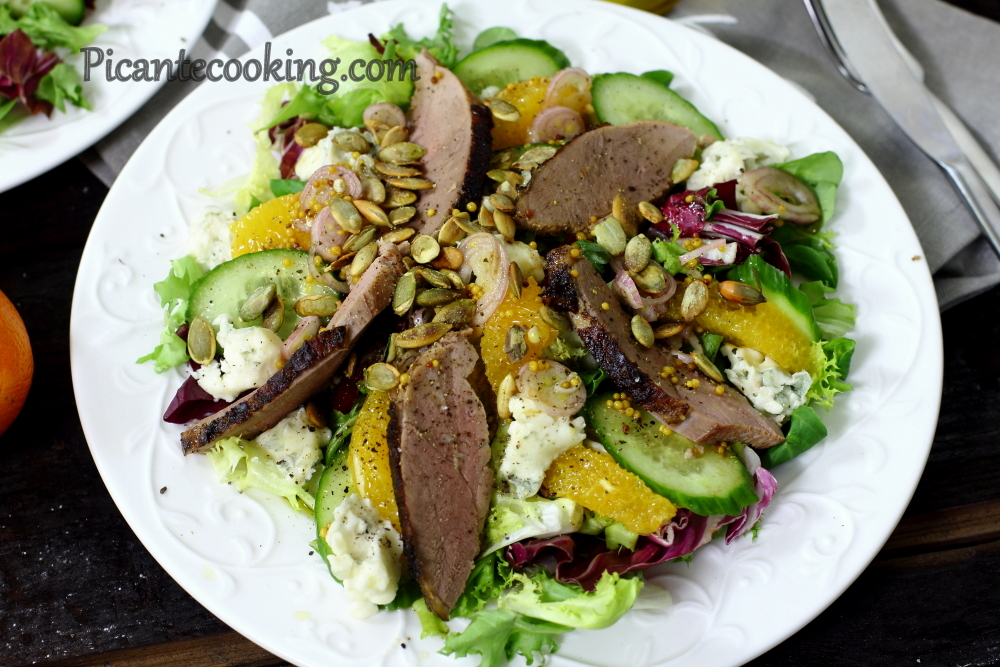 Duck salad with oranges11.JPG