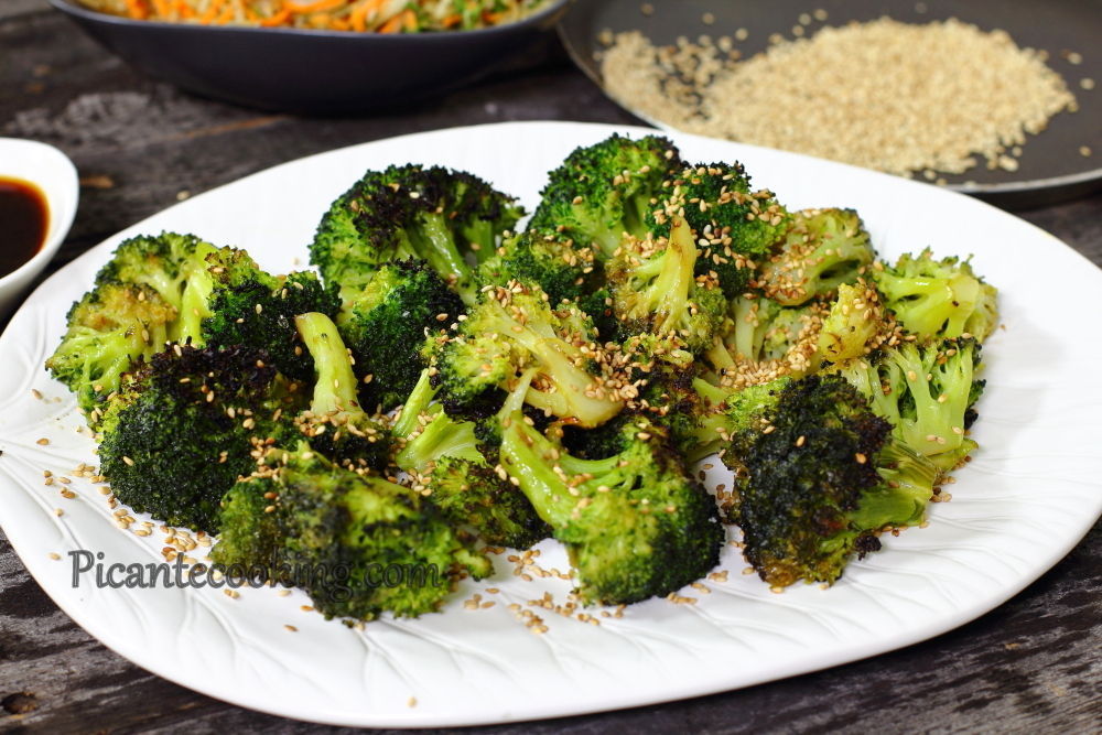 Roasted broccoli with sesame 6.JPG