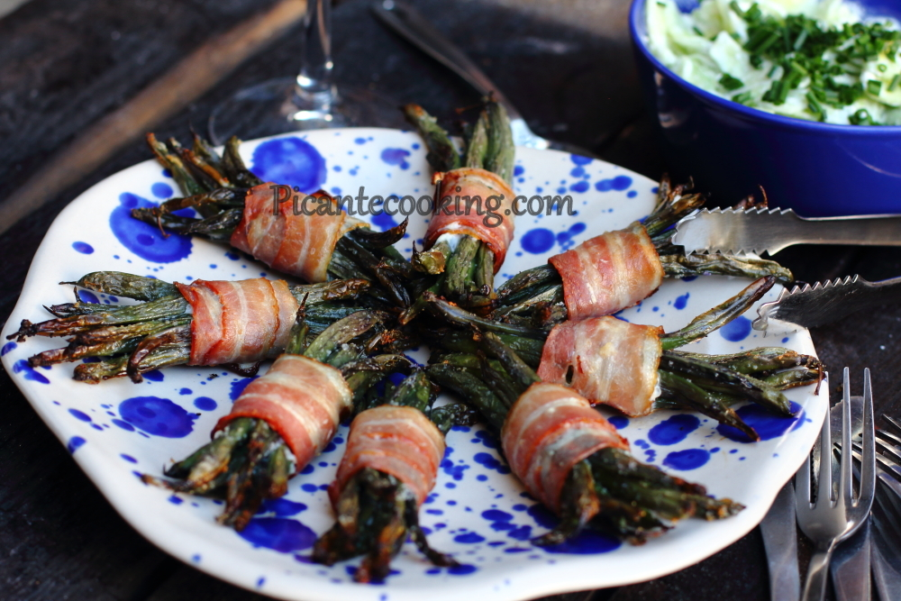 String beans in bacon5.JPG
