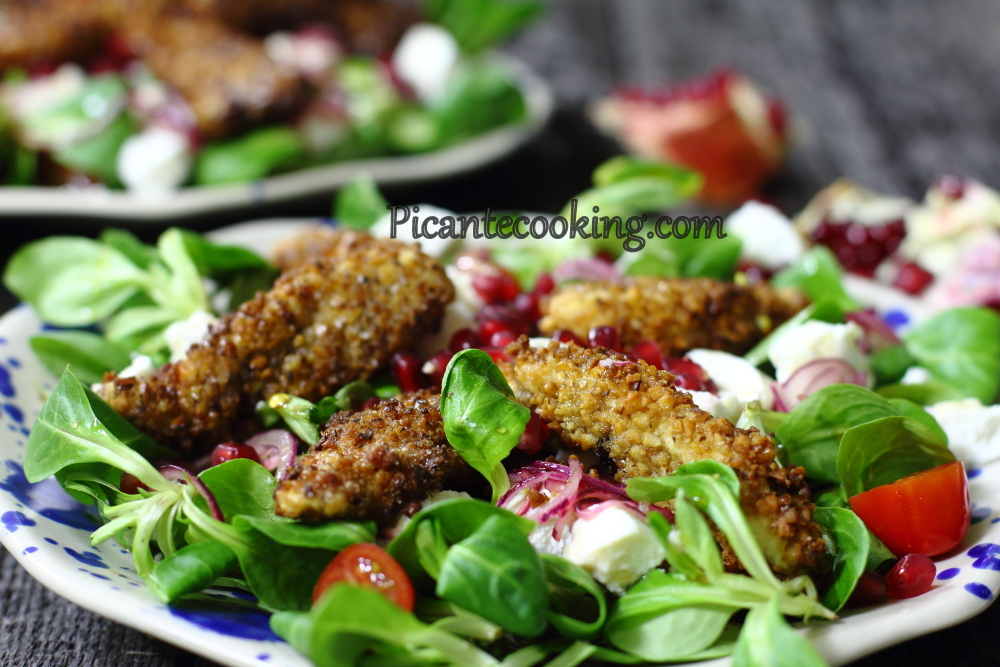 Chicken in nut crust salad14.JPG