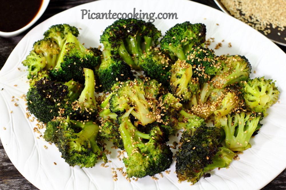 Roasted broccoli with sesame 9.JPG