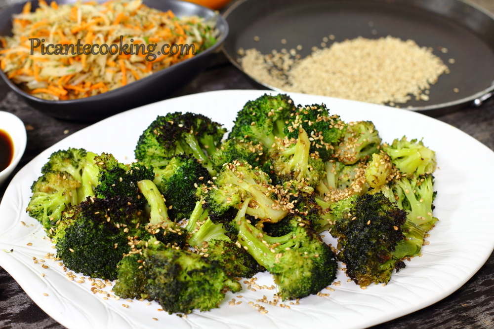 Roasted broccoli with sesame 11.JPG
