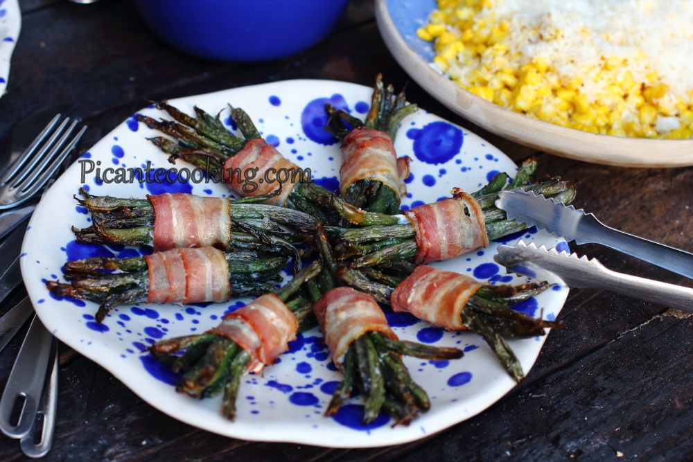 String beans in bacon8.JPG
