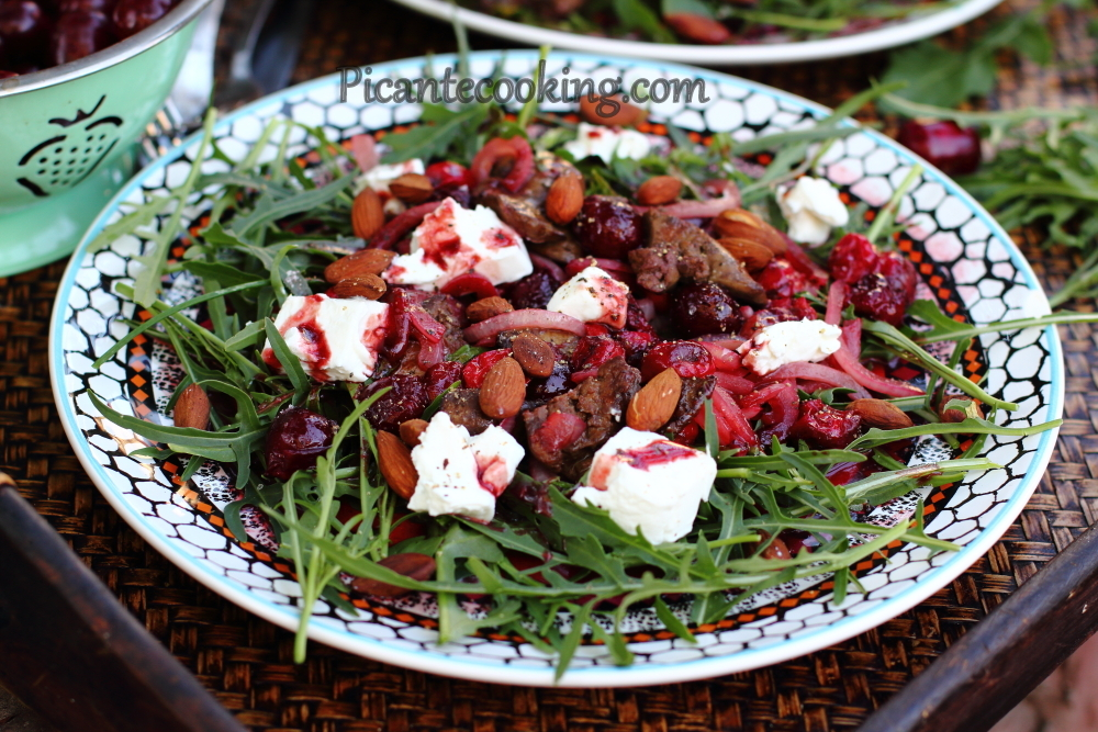 cherry and chicken liver salad8.JPG