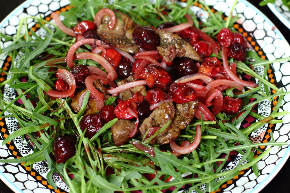 cherry and chicken liver salad7.JPG