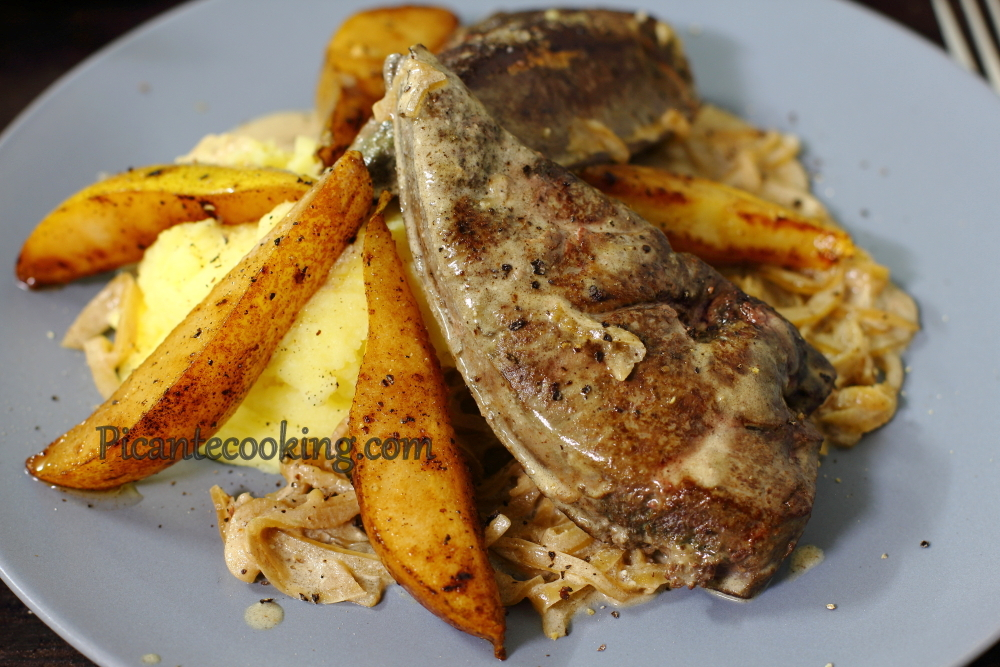 Veal liver with pears15.JPG