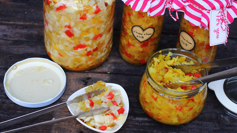 Warzywny relish chow chow (ang. Southern chow chow)